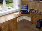 fitted study in small room